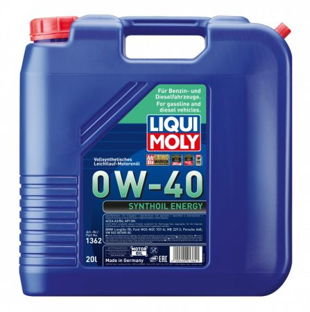 Liqui Moly Synthoil Energy 0w40 20l